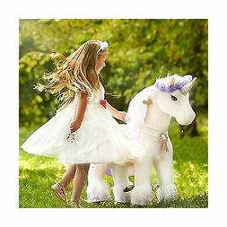 PonyCycle Official Riding Horse White and Purple Unicorn No