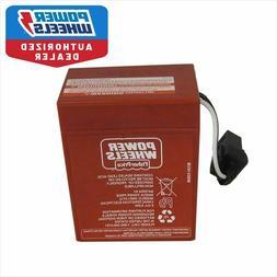 Power Wheels 00801-0712 6 volt RED BATTERY Genuine 1 year wa