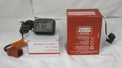 Power Wheels 00801-0712  6V RED Battery And Charger Pack Fis