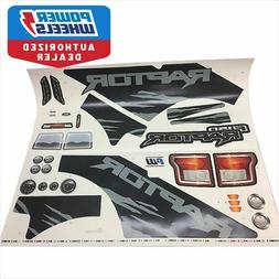Power Wheels 3900-5521 F-150 Raptor Label Decal Sheet Genuin