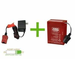 Power Wheels 6 v Red Battery and Charger Bundle