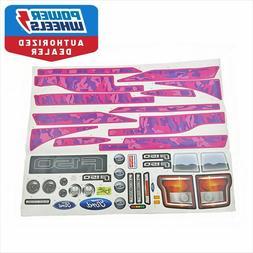 Power Wheels BCV58 Girls Camo Ford F150 Decal Label Sheet Ge