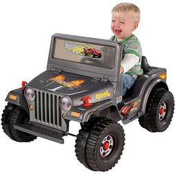 Fisher-Price Power Wheels Charcoal Hot Wheels Jeep 6-Volt Ba