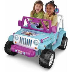 Power Wheels Disney Frozen Jeep 12V Wrangler Battery-Powered