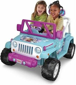 Power Wheels Disney Frozen Jeep Wrangler 12-Volt Battery-Pow