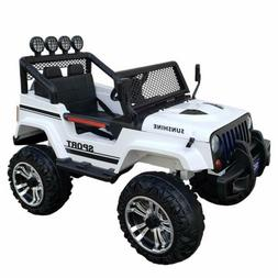 Kids Jeep Style Car Ride On Toy Electric 12V Power Wheels Re