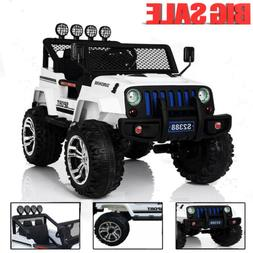 Ride On Jeep Style Car Toy 12V Powered Truck Remote Control