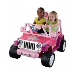 POWER WHEELS JEEP Wrangler Battery RIDE ON TOY Kid Baby Pink