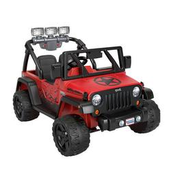 Fisher-Price Power Wheels Jeep Wrangler Rubicon, 5 MPH Ride-