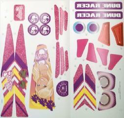 Power Wheels Y9367 Barbie Dune Racer Label Decal Sheet Genui