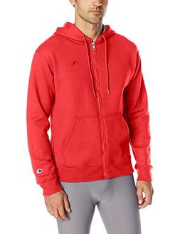 Champion Men's Powerblend Sweats Full Zip Jacket Team Red Sc