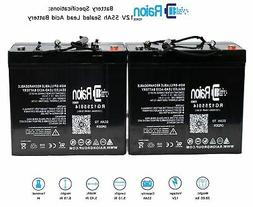 Raion 12V 55Ah Battery For Fortress Scooters Winner 4 Wheel