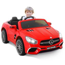 12V Electric Mercedes Benz Kids Ride On Car Red Wheels Remot