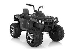 Wonderlanes 12V Ride Adventure ATV in Black, Battery Powered