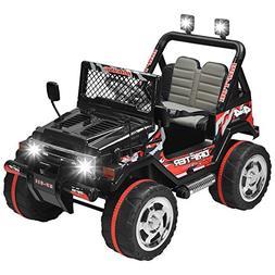 Uenjoy  Kids Ride on Car /12V Electric Car for Kids with Rem
