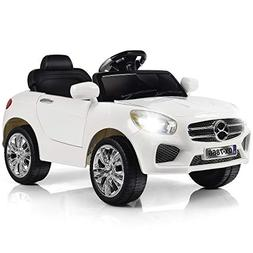 Costzon Kids Ride On Car, 6V Battery Powered Rechargeable Ri