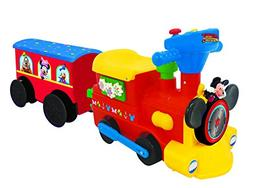 Kids Ride On Car Disney Mickey Mouse Motorized Choo Choo Tra
