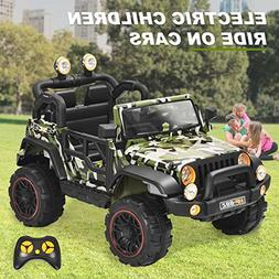 Kids Ride on Car Remote Control Power Wheels with MP3/ 3 Spe