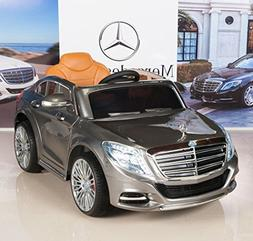 Kids 12V Ride On Car Mercedes-Benz S600 with RC / Remote Con