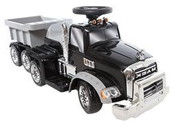 Wonderlanes 6V Ride On Mack Truck in Blue Battery Powered Wheels