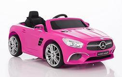 Wonderlanes 12V Ride On Mercedes Benz SL Class in Pink, Batt