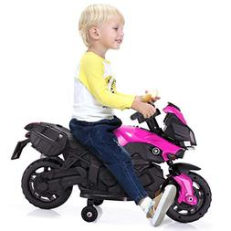 JAXPETY Kids Ride On Motorcycle 6V Toy Battery Powered Elect