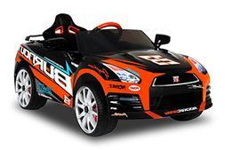 Wonderlanes 12V Ride On Nissan GTR-R35 in Black with Racing
