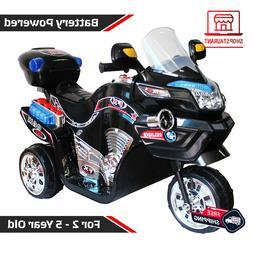 Ride on Toy 3 Wheel Motorcycle Battery Powered Kids Boys Gir