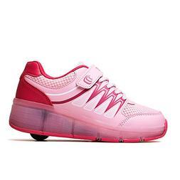 zgshnfgk Roller Shoes Girls Boys Wheel Shoes Kids Roller Ska