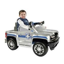Rollplay 6 Volt Chevy Silverado Police Truck Ride On Toy, Ba