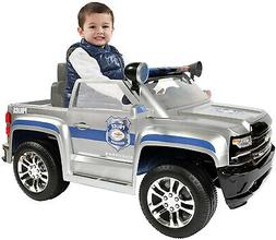 Rollplay 6 Volt Chevy Silverado Police Truck Ride On Toy, Ba