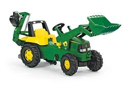 rolly toys John Deere Pedal Tractor with Working Loader and