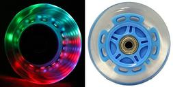 LED SCOOTER WHEELS ABEC9 BEARINGS for RAZOR SCOOTERS 100mm L
