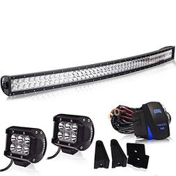 """Spead-Vmall Led Light Bar Curved 50"""" Inch 288W Spot Flood Of"""