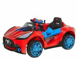 Spiderman Ride On Power Wheels For Boys Toy Super Car Kids 6