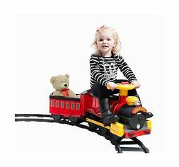 Rollplay Steam Train 6V Battery Powered Riding Toy, Yellow,