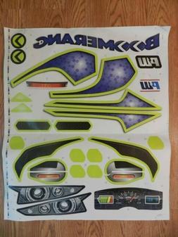 Power Wheels Sticker Boomerang Decal  FLC33 Car Toy Kids