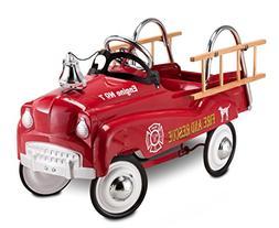 Stylish, Nostalgic Fire Truck Pedal Car