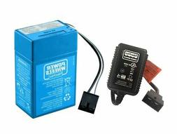Power Wheels Super 6 Volt Blue Battery & Blue Charger Kit, P