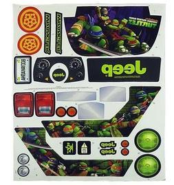 Teenage Mutant Ninja Turtles Jeep Wrangler Label Sheet