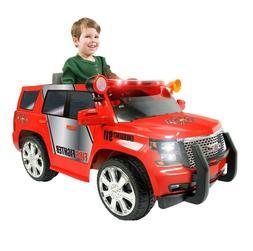 Toy car/ Rollplay 6 Volt GMC Yukon Denali Fire Rescue Ride O