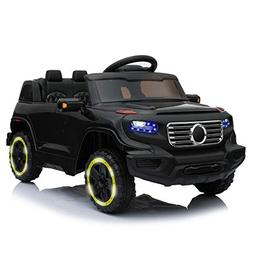 TAMCO Toys Ride on Car Jeep Style with Flicker Wheels, Key S