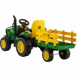 Tractor Ride On for Kids 12V John Deere Ground Force w/ FM R