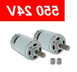 2 Pcs 550 30000RPM Electric Motor for 24 Volt Kids Ride On C