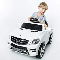 Costzon White Mercedes Benz ML350 6V Electric Kids Ride On C