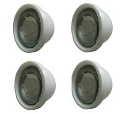 Power Wheels White Wheel Retainer Cap Nuts, 4-Pack - 00801-1