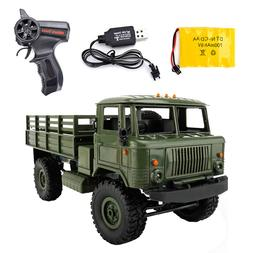 WPL B-24 Remote Control Military Truck DIY Off-Road 4WD RC C