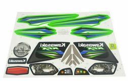 Power Wheels X6641 Toy Kawasaki KFX Label Decal Sheet Fisher