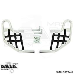 Yamaha Raptor 350 YFM 350  Standard Nerf Bars Silver w/Black
