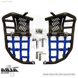 Yamaha Raptor 660 YFM 660R  Propeg Nerf Bars Black w/Blue Ne